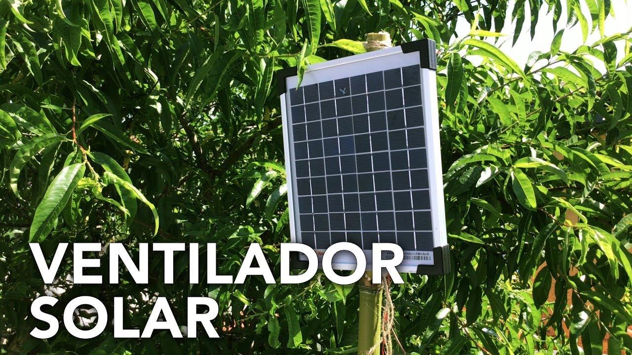 Ventilador para invernadero con panel solar | Permaculture in Galicia